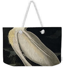 American White Pelican Weekender Tote Bag by John James Audubon
