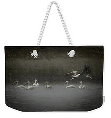 American White Pelicans Da Weekender Tote Bag by Ernie Echols