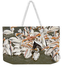 American White Pelicans Weekender Tote Bag by Eunice Gibb
