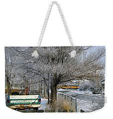 Americana And Hoarfrost Weekender Tote Bag
