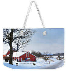 Americana Barn In Vermont Weekender Tote Bag