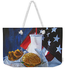 Weekender Tote Bag featuring the painting Americana by LaVonne Hand