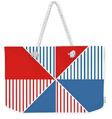 Americana Pinwheel Weekender Tote Bag