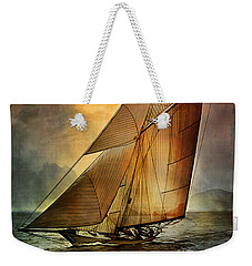Weekender Tote Bag featuring the digital art America's Cup 1 by Andrzej Szczerski