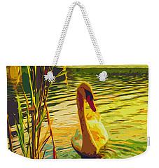 Weekender Tote Bag featuring the digital art America's Wetlands by Chuck Mountain