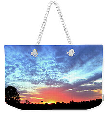 Weekender Tote Bag featuring the photograph City On A Hill - Americus, Ga Sunset by Jerry Battle