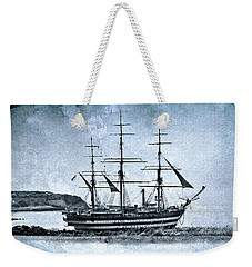 Amerigo Vespucci Sailboat In Blue Weekender Tote Bag