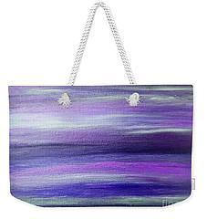 Amethyst Mirage  Weekender Tote Bag by Rachel Hannah