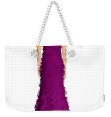 Weekender Tote Bag featuring the digital art Amethyst by Nancy Levan