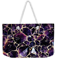 Amethyst Quartz Crystal Smithsonian Weekender Tote Bag