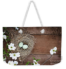Amid The Dogwood Blossoms Weekender Tote Bag by Stephanie Frey