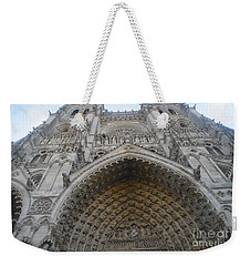 Weekender Tote Bag featuring the photograph Amiens Cathedral by Therese Alcorn