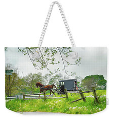 Amish Buggy Along Ronks Road Weekender Tote Bag