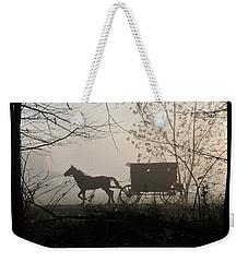 Amish Buggy Foggy Sunday Weekender Tote Bag