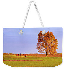 Weekender Tote Bag featuring the photograph Amish Country by Rima Biswas