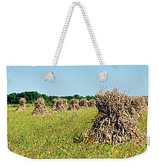 Weekender Tote Bag featuring the photograph Amish Harvest by Cricket Hackmann