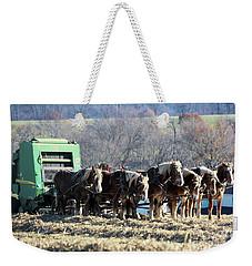 Amish Haymaker In Lancaster County, Pennsylvania Weekender Tote Bag