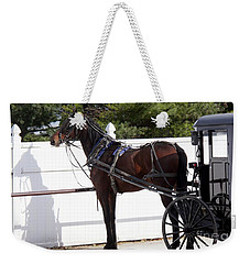 Amish Horse And Buggy In Lancaster County, Pennsylvania Weekender Tote Bag