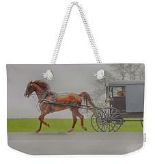 Amish Sunday Ride Weekender Tote Bag