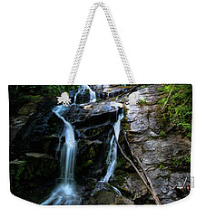 Weekender Tote Bag featuring the photograph Ammon Creek Falls by Barbara Bowen