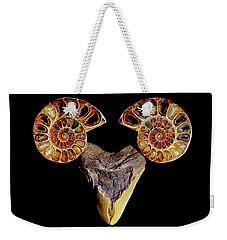 Ammonite On Megolodom - 8283 Weekender Tote Bag