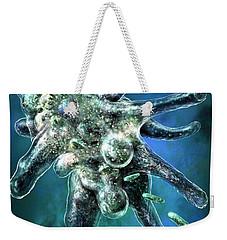 Amoeba Blue Weekender Tote Bag