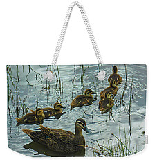 Weekender Tote Bag featuring the photograph Among The Reeds by Mark Blauhoefer