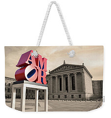 Weekender Tote Bag featuring the photograph Amor - Love by Bill Cannon