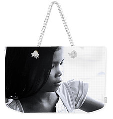 Weekender Tote Bag featuring the photograph Amore Is Pensive Of The World by Jez C Self