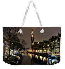 Amsterdam By Night - Prinsengracht Weekender Tote Bag