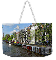 Amsterdam Canal Weekender Tote Bag by Anthony Dezenzio