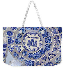 Amsterdam In Blue Weekender Tote Bag