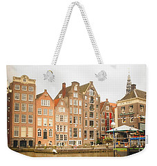 Weekender Tote Bag featuring the photograph Amsterdam Scene by Therese Alcorn