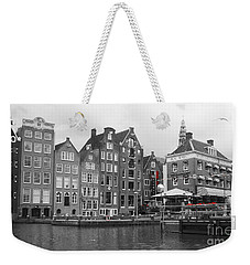 Weekender Tote Bag featuring the photograph Amsterdam by Therese Alcorn