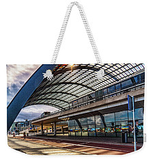 Weekender Tote Bag featuring the photograph Amsterdam Train Station by Janis Knight