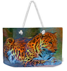 Amur Leopard Weekender Tote Bag by Caito Junqueira