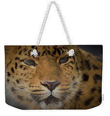 Amur Leopard Dp Weekender Tote Bag by Ernie Echols