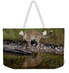 Amur Leopard Reflection Weekender Tote Bag