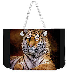 Weekender Tote Bag featuring the photograph Amur Tiger by Brian Tarr