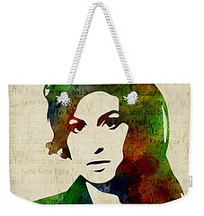 Amy Winehouse Watercolor Weekender Tote Bag