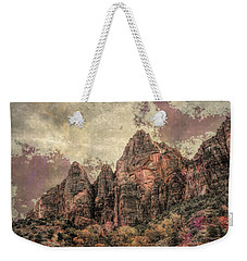 Weekender Tote Bag featuring the photograph An Abstract Of Zion by John M Bailey