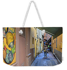 Weekender Tote Bag featuring the photograph An Alley In Nice by Allen Sheffield