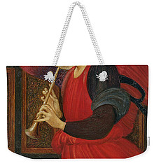 An Angel Playing A Flageolet Weekender Tote Bag by Sir Edward Burne-Jones