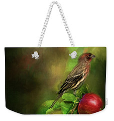 An Apple A Day Weekender Tote Bag by Lana Trussell