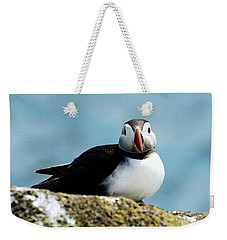 An Atlantic Puffin Weekender Tote Bag by MaryJane Armstrong