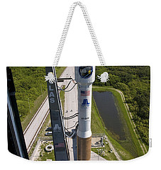 An Atlas V Rocket On The Launch Pad Weekender Tote Bag by Stocktrek Images