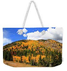 An Autumn Drive - Panorama Weekender Tote Bag