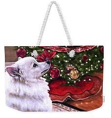 An Eskie Christmas Weekender Tote Bag