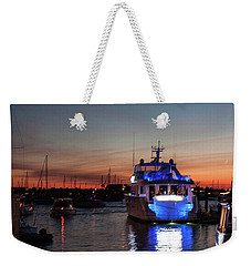 Weekender Tote Bag featuring the photograph An Evening In Newport Rhode Island II by Suzanne Gaff