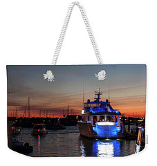Weekender Tote Bag featuring the photograph An Evening In Newport Rhode Island Iv by Suzanne Gaff